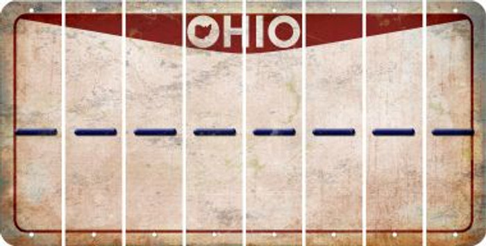 Ohio HYPHEN Cut License Plate Strips (Set of 8) LPS-OH1-044