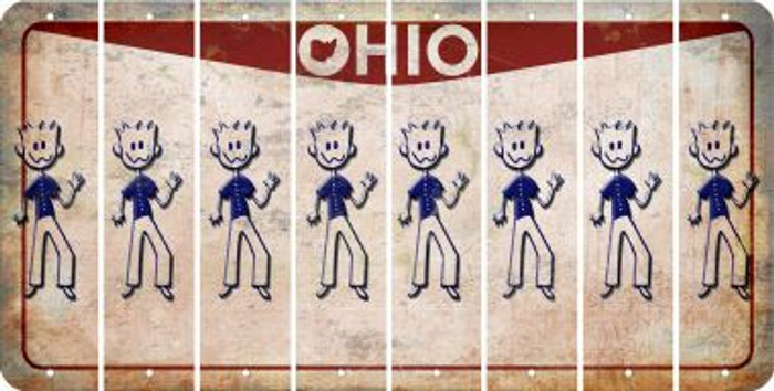 Ohio DAD Cut License Plate Strips (Set of 8) LPS-OH1-071