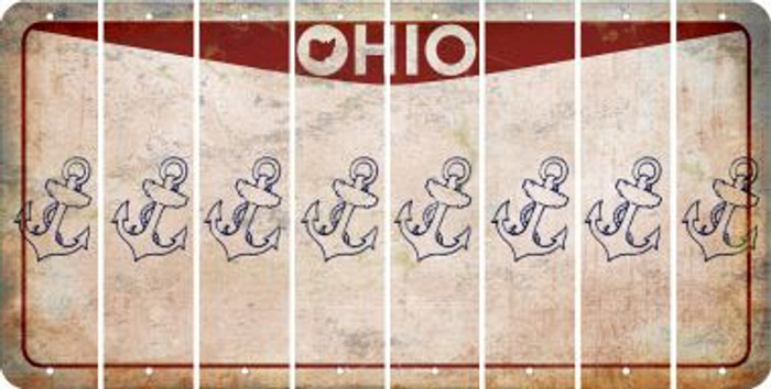 Ohio ANCHOR Cut License Plate Strips (Set of 8) LPS-OH1-093