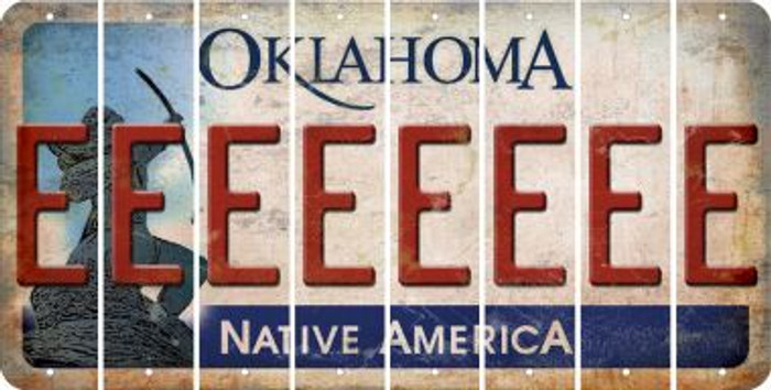 Oklahoma E Cut License Plate Strips (Set of 8) LPS-OK1-005