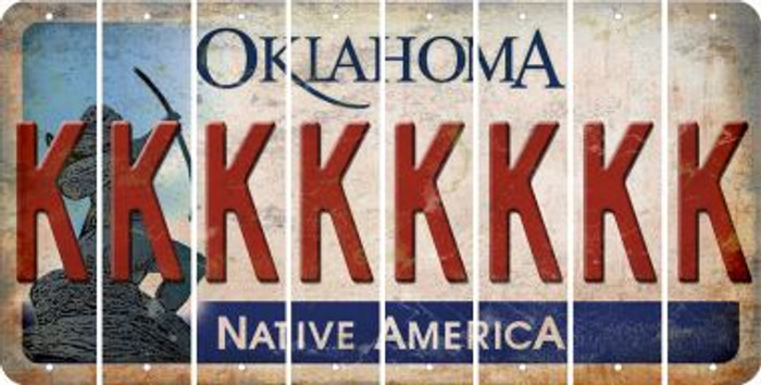 Oklahoma K Cut License Plate Strips (Set of 8) LPS-OK1-011
