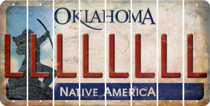 Oklahoma L Cut License Plate Strips (Set of 8) LPS-OK1-012