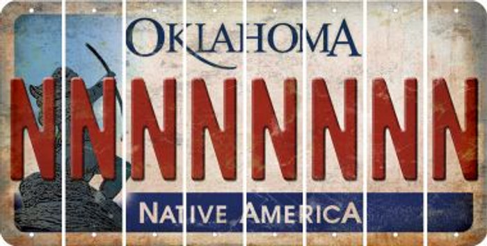 Oklahoma N Cut License Plate Strips (Set of 8) LPS-OK1-014