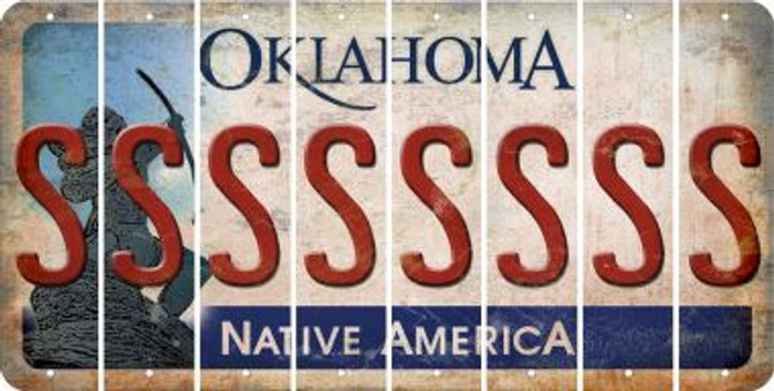 Oklahoma S Cut License Plate Strips (Set of 8) LPS-OK1-019
