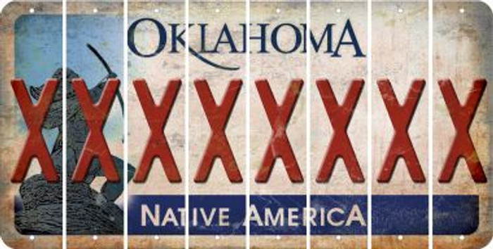 Oklahoma X Cut License Plate Strips (Set of 8) LPS-OK1-024
