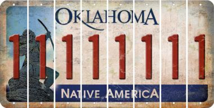 Oklahoma 1 Cut License Plate Strips (Set of 8) LPS-OK1-028