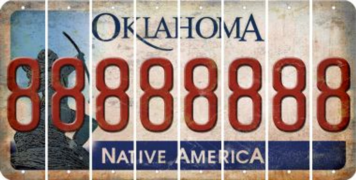 Oklahoma 8 Cut License Plate Strips (Set of 8) LPS-OK1-035