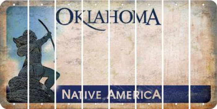 Oklahoma BLANK Cut License Plate Strips (Set of 8) LPS-OK1-037