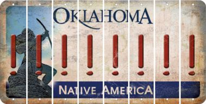Oklahoma EXCLAMATION POINT Cut License Plate Strips (Set of 8) LPS-OK1-041