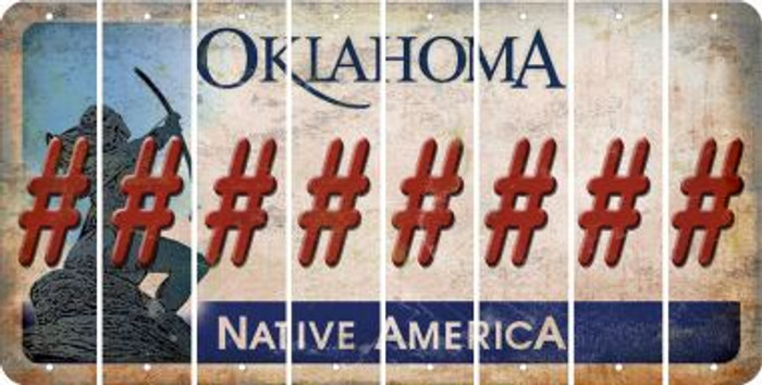 Oklahoma HASHTAG Cut License Plate Strips (Set of 8) LPS-OK1-043