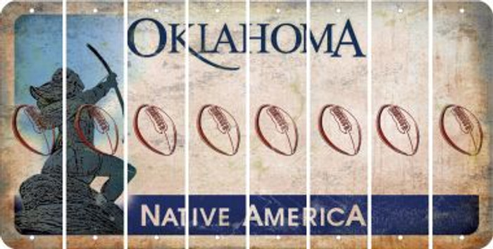 Oklahoma FOOTBALL Cut License Plate Strips (Set of 8) LPS-OK1-060