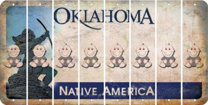 Oklahoma BABY BOY Cut License Plate Strips (Set of 8) LPS-OK1-066