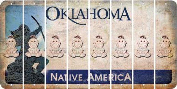 Oklahoma BABY GIRL Cut License Plate Strips (Set of 8) LPS-OK1-067