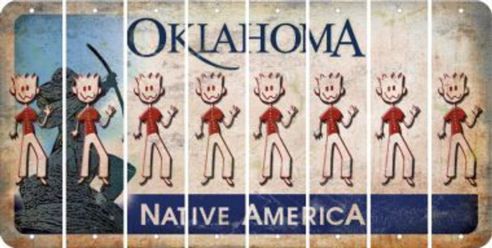 Oklahoma DAD Cut License Plate Strips (Set of 8) LPS-OK1-071