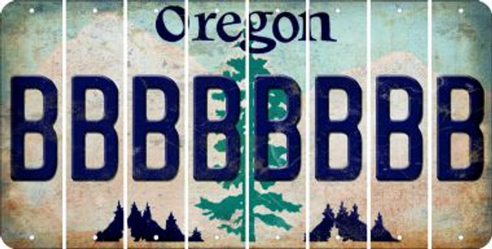 Oregon B Cut License Plate Strips (Set of 8) LPS-OR1-002