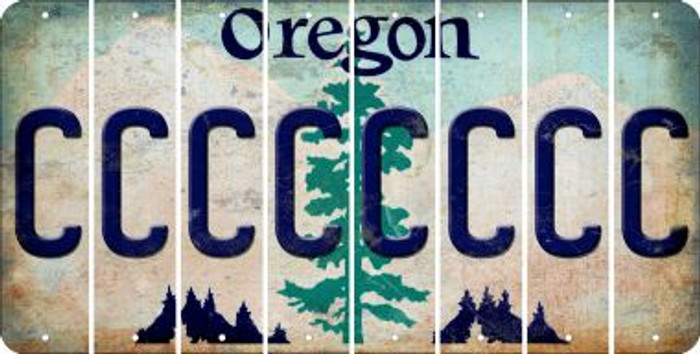 Oregon C Cut License Plate Strips (Set of 8) LPS-OR1-003