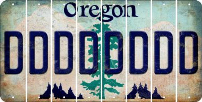 Oregon D Cut License Plate Strips (Set of 8) LPS-OR1-004