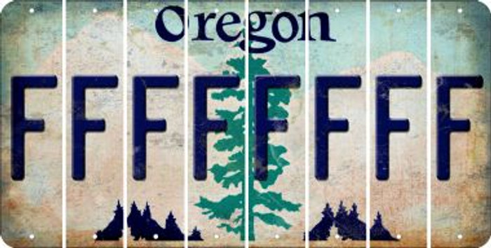 Oregon F Cut License Plate Strips (Set of 8) LPS-OR1-006