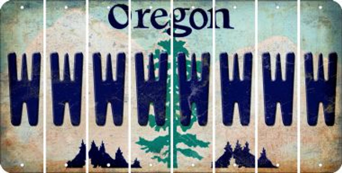 Oregon W Cut License Plate Strips (Set of 8) LPS-OR1-023