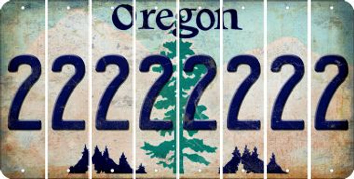 Oregon 2 Cut License Plate Strips (Set of 8) LPS-OR1-029