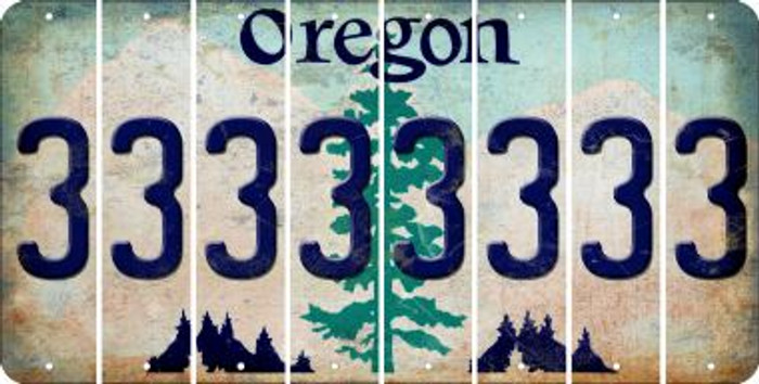Oregon 3 Cut License Plate Strips (Set of 8) LPS-OR1-030