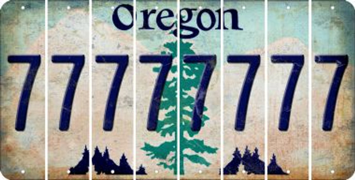 Oregon 7 Cut License Plate Strips (Set of 8) LPS-OR1-034