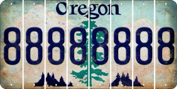 Oregon 8 Cut License Plate Strips (Set of 8) LPS-OR1-035