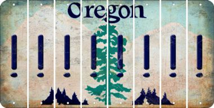 Oregon EXCLAMATION POINT Cut License Plate Strips (Set of 8) LPS-OR1-041