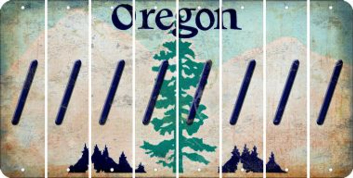 Oregon FORWARD SLASH Cut License Plate Strips (Set of 8) LPS-OR1-042