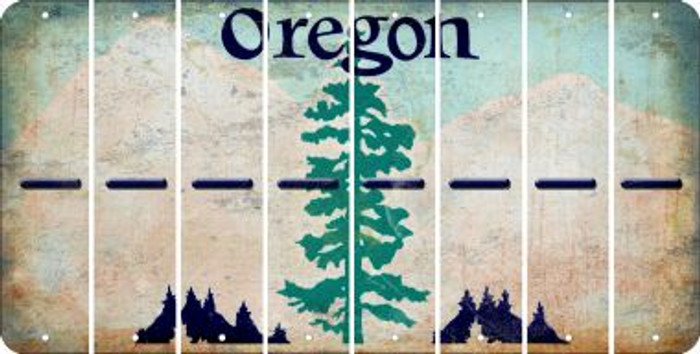 Oregon HYPHEN Cut License Plate Strips (Set of 8) LPS-OR1-044