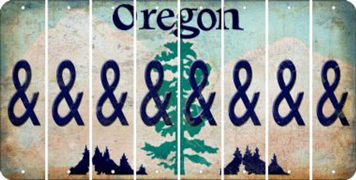 Oregon AMPERSAND Cut License Plate Strips (Set of 8) LPS-OR1-049