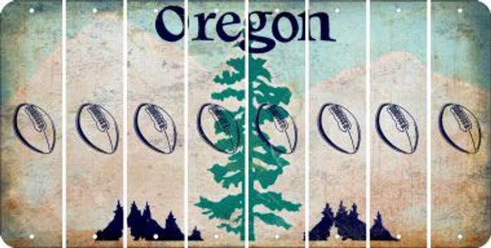 Oregon FOOTBALL Cut License Plate Strips (Set of 8) LPS-OR1-060