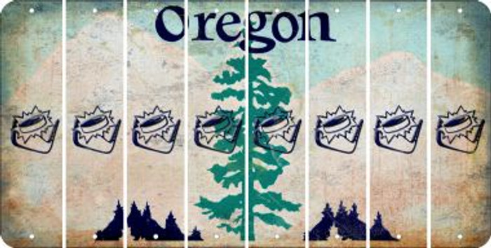 Oregon HOCKEY Cut License Plate Strips (Set of 8) LPS-OR1-062