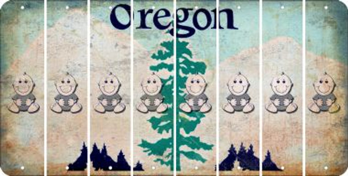 Oregon BABY BOY Cut License Plate Strips (Set of 8) LPS-OR1-066