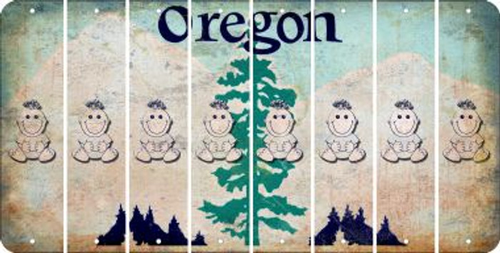 Oregon BABY GIRL Cut License Plate Strips (Set of 8) LPS-OR1-067