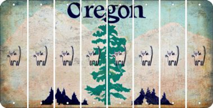 Oregon CAT Cut License Plate Strips (Set of 8) LPS-OR1-072