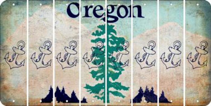 Oregon ANCHOR Cut License Plate Strips (Set of 8) LPS-OR1-093