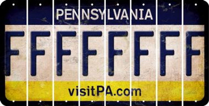 Pennsylvania F Cut License Plate Strips (Set of 8) LPS-PA1-006
