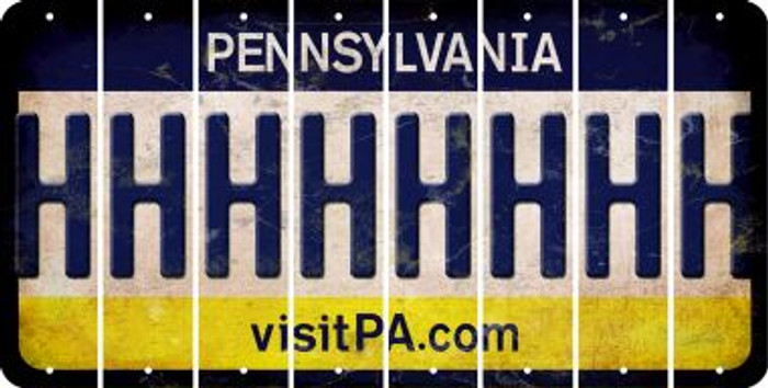 Pennsylvania H Cut License Plate Strips (Set of 8) LPS-PA1-008