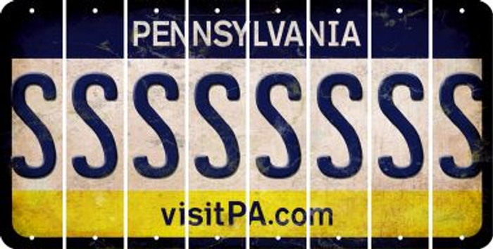 Pennsylvania S Cut License Plate Strips (Set of 8) LPS-PA1-019