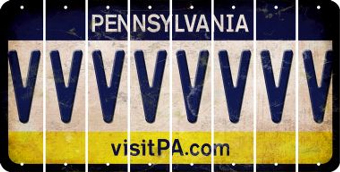 Pennsylvania V Cut License Plate Strips (Set of 8) LPS-PA1-022
