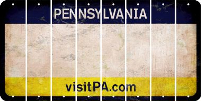 Pennsylvania BLANK Cut License Plate Strips (Set of 8) LPS-PA1-037