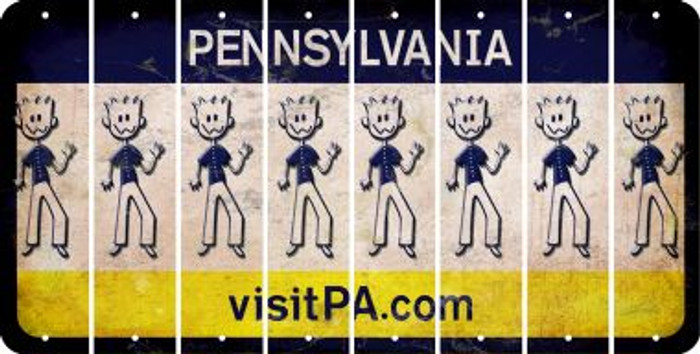 Pennsylvania DAD Cut License Plate Strips (Set of 8) LPS-PA1-071