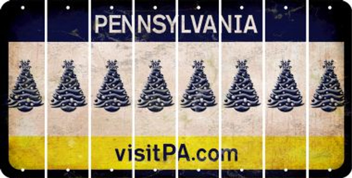 Pennsylvania CHRISTMAS TREE Cut License Plate Strips (Set of 8) LPS-PA1-077
