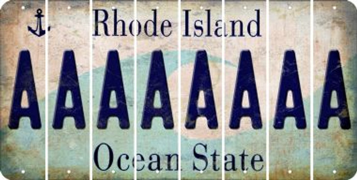 Rhode Island A Cut License Plate Strips (Set of 8) LPS-RI1-001