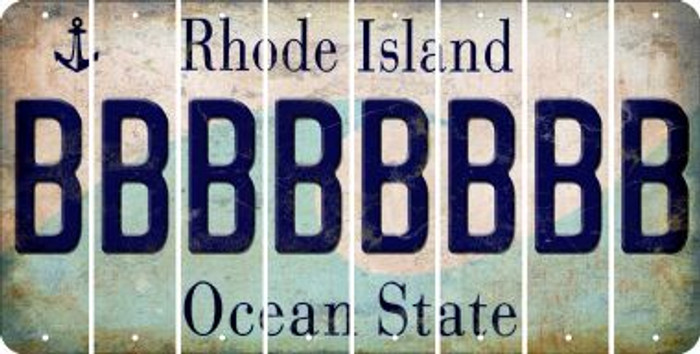 Rhode Island B Cut License Plate Strips (Set of 8) LPS-RI1-002