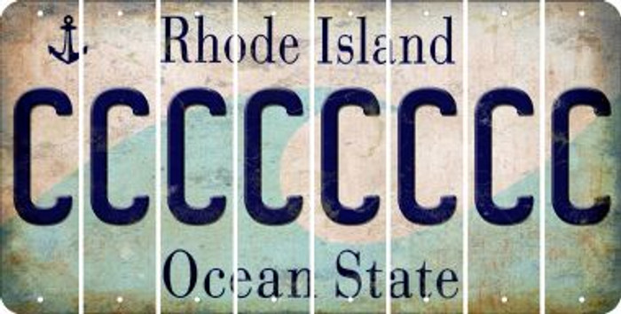 Rhode Island C Cut License Plate Strips (Set of 8) LPS-RI1-003