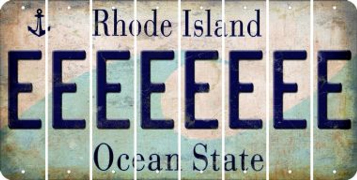Rhode Island E Cut License Plate Strips (Set of 8) LPS-RI1-005