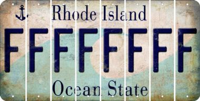 Rhode Island F Cut License Plate Strips (Set of 8) LPS-RI1-006