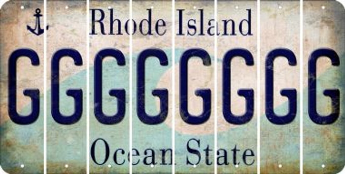 Rhode Island G Cut License Plate Strips (Set of 8) LPS-RI1-007